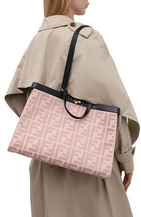Женский сумка peekaboo x-tote FENDI светло-розового цвета, арт. 8BH374 A9P6 | Фото 2