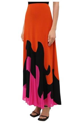 Женская юбка из вискозы TOM FORD разноцветного цвета, арт. GCJ294-FAX668 | Фото 3