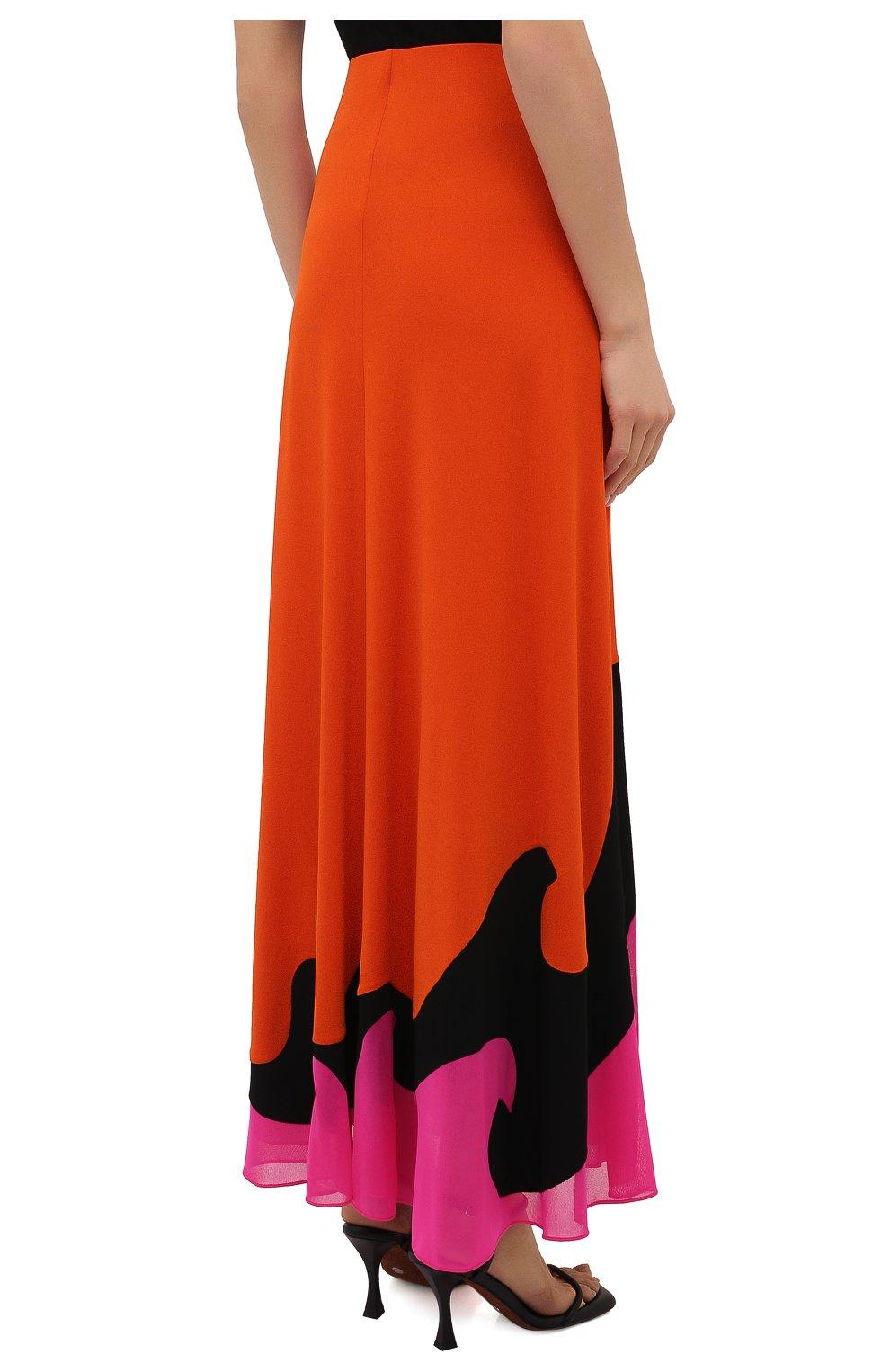 Женская юбка из вискозы TOM FORD разноцветного цвета, арт. GCJ294-FAX668 | Фото 4