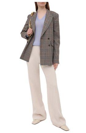 Женский шерстяной пуловер LORO PIANA светло-голубого цвета, арт. FAL6606/VVIC   Фото 2