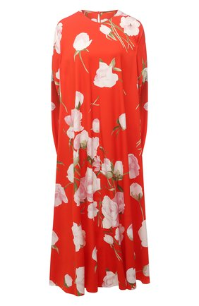 Женское шелковое платье VALENTINO красного цвета, арт. VB0VAVQ26D4 | Фото 1