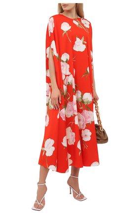 Женское шелковое платье VALENTINO красного цвета, арт. VB0VAVQ26D4 | Фото 2