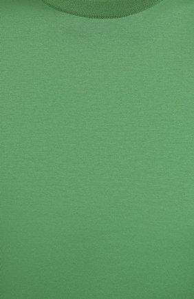 Женская хлопковая футболка LORO PIANA зеленого цвета, арт. FAI5069 | Фото 5