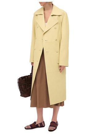 Женские текстильные лоферы LOEWE разноцветного цвета, арт. L815291X07 | Фото 2 (Материал внешний: Текстиль; Материал внутренний: Натуральная кожа; Подошва: Плоская; Каблук высота: Низкий)