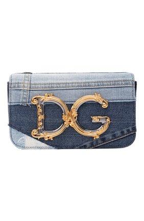 Женская сумка dg girls DOLCE & GABBANA синего цвета, арт. BB6885/A0621   Фото 1