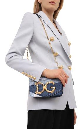 Женская сумка dg girls DOLCE & GABBANA синего цвета, арт. BB6885/A0621   Фото 2