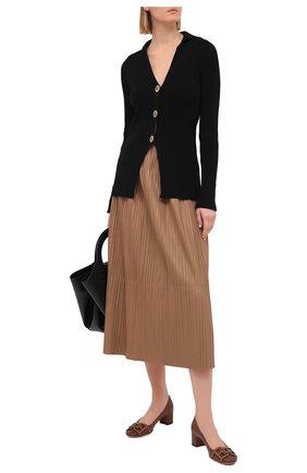 Женские кожаные туфли pinke 45 BALLY коричневого цвета, арт. PINKIE 45-STUDS/19 | Фото 2