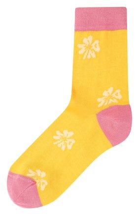 Женские хлопковые носки MARNI желтого цвета, арт. SKMC0093Q0/UFC1E7 | Фото 1