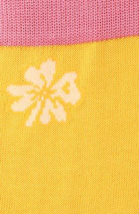 Женские хлопковые носки MARNI желтого цвета, арт. SKMC0093Q0/UFC1E7 | Фото 2