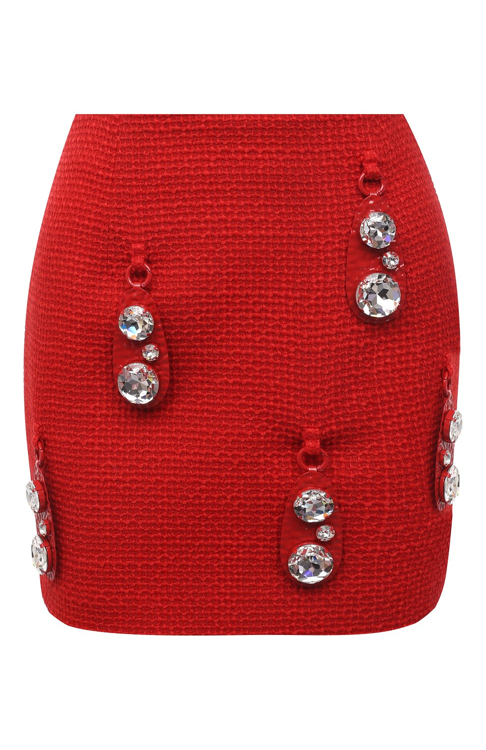 Женская шерстяная юбка AREA красного цвета, арт. RE21S05095   Фото 1