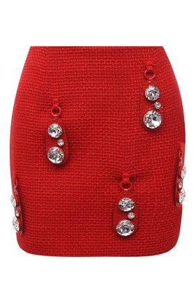 Женская шерстяная юбка AREA красного цвета, арт. RE21S05095 | Фото 1