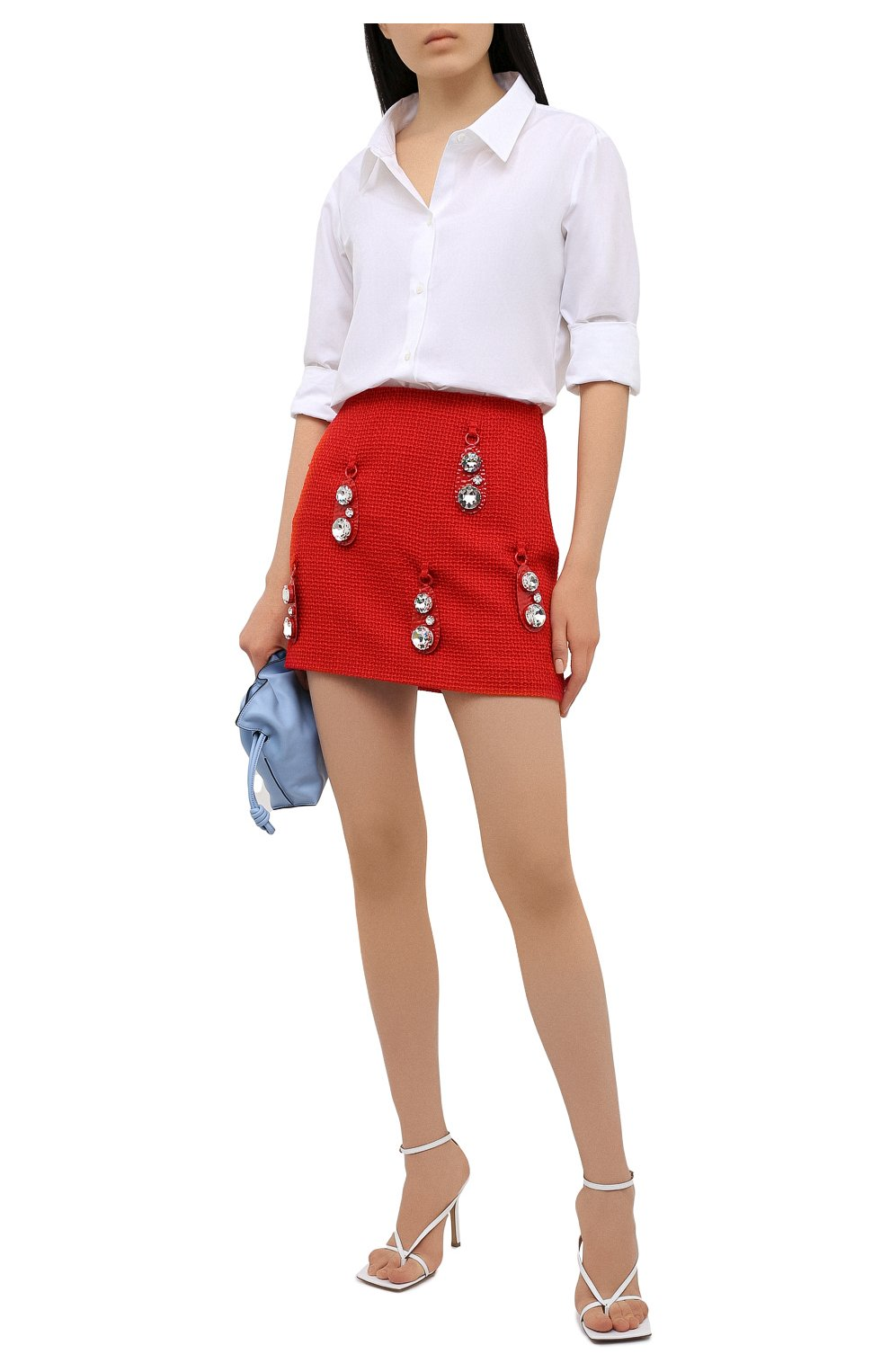 Женская шерстяная юбка AREA красного цвета, арт. RE21S05095   Фото 2