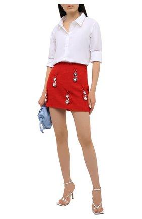 Женская шерстяная юбка AREA красного цвета, арт. RE21S05095 | Фото 2