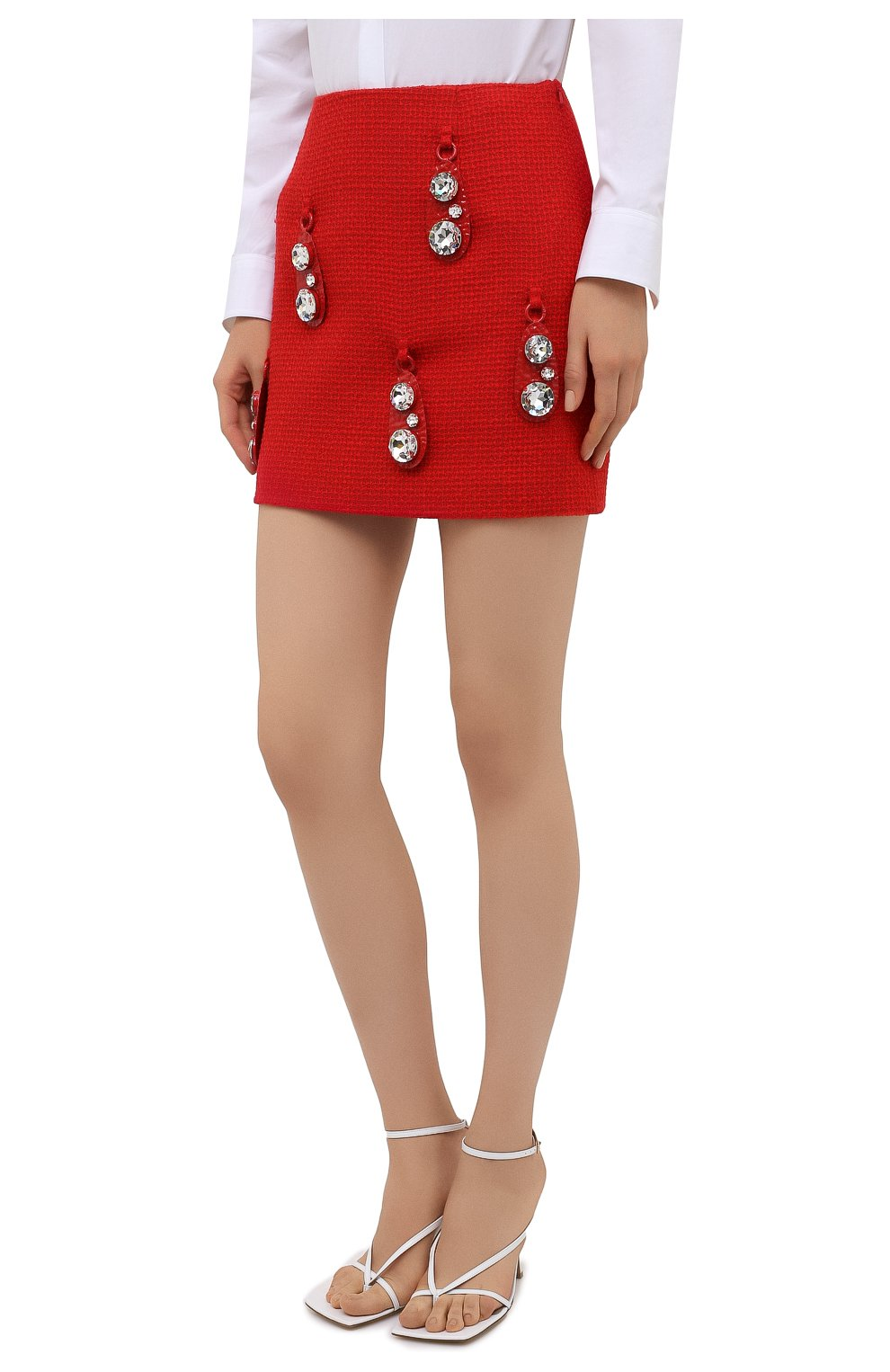 Женская шерстяная юбка AREA красного цвета, арт. RE21S05095   Фото 3
