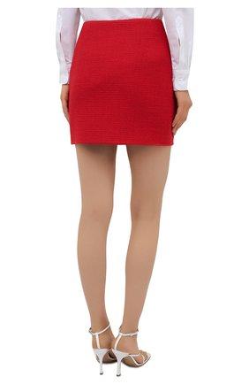 Женская шерстяная юбка AREA красного цвета, арт. RE21S05095   Фото 4