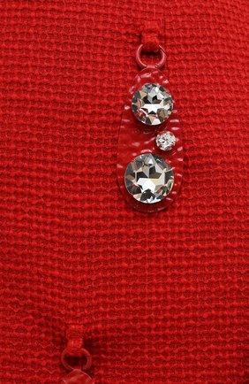 Женская шерстяная юбка AREA красного цвета, арт. RE21S05095   Фото 5