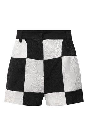 Женские шорты DOLCE & GABBANA черно-белого цвета, арт. FTBVHT/GDX76 | Фото 1
