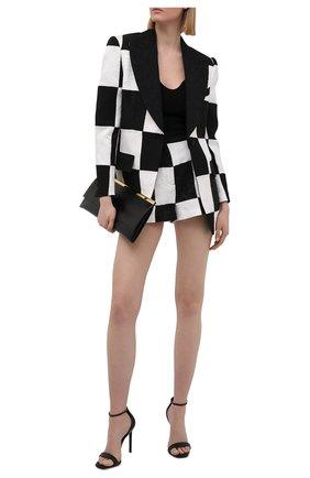 Женские шорты DOLCE & GABBANA черно-белого цвета, арт. FTBVHT/GDX76 | Фото 2