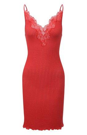 Женская хлопковая сорочка ZIMMERLI красного цвета, арт. 260-3092 | Фото 1