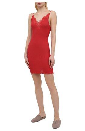 Женская хлопковая сорочка ZIMMERLI красного цвета, арт. 260-3092 | Фото 2
