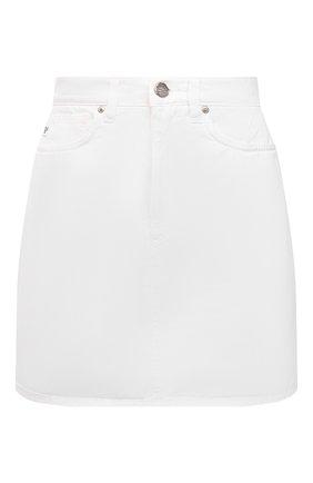 Женская джинсовая юбка TWO WOMEN IN THE WORLD белого цвета, арт. F0SCA/A1HRT3 | Фото 1