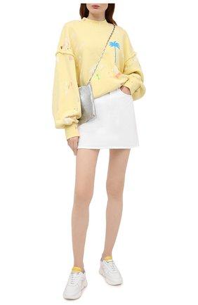 Женская джинсовая юбка TWO WOMEN IN THE WORLD белого цвета, арт. F0SCA/A1HRT3 | Фото 2