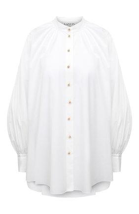 Женская хлопковая блузка LANVIN белого цвета, арт. RW-T00007-4408-E21 | Фото 1