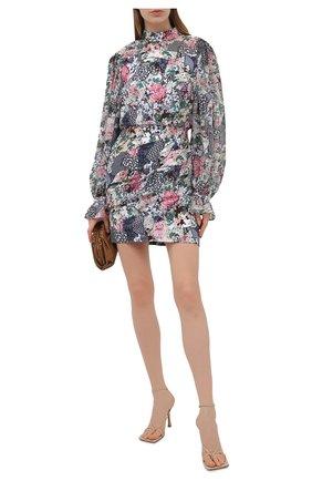 Женское шелковое платье SALONI разноцветного цвета, арт. 10200-1519 | Фото 2