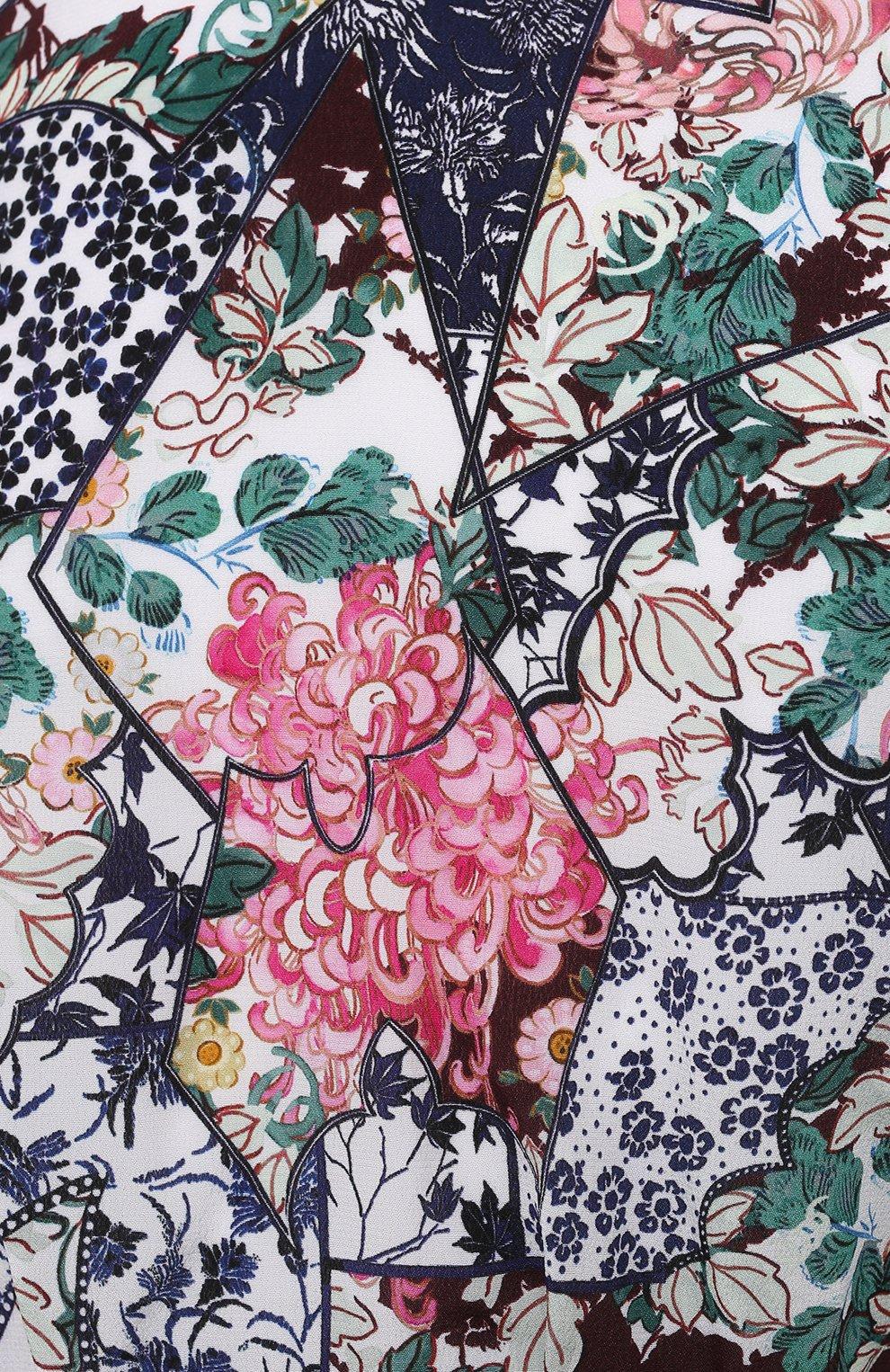 Женское шелковое платье SALONI разноцветного цвета, арт. 10200-1519   Фото 5 (Случай: Коктейльный; Материал внешний: Шелк; Рукава: Длинные; Длина Ж (юбки, платья, шорты): Мини; Материал подклада: Синтетический материал; Стили: Романтичный; Женское Кросс-КТ: Платье-одежда)