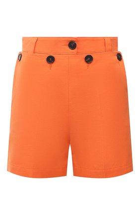 Женские хлопковые шорты MSGM оранжевого цвета, арт. 3042MDB104 217300 | Фото 1