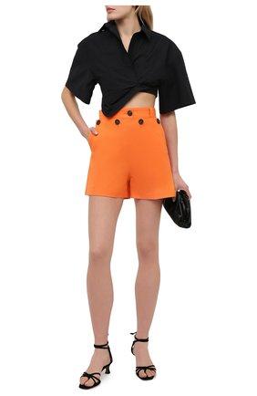 Женские хлопковые шорты MSGM оранжевого цвета, арт. 3042MDB104 217300 | Фото 2