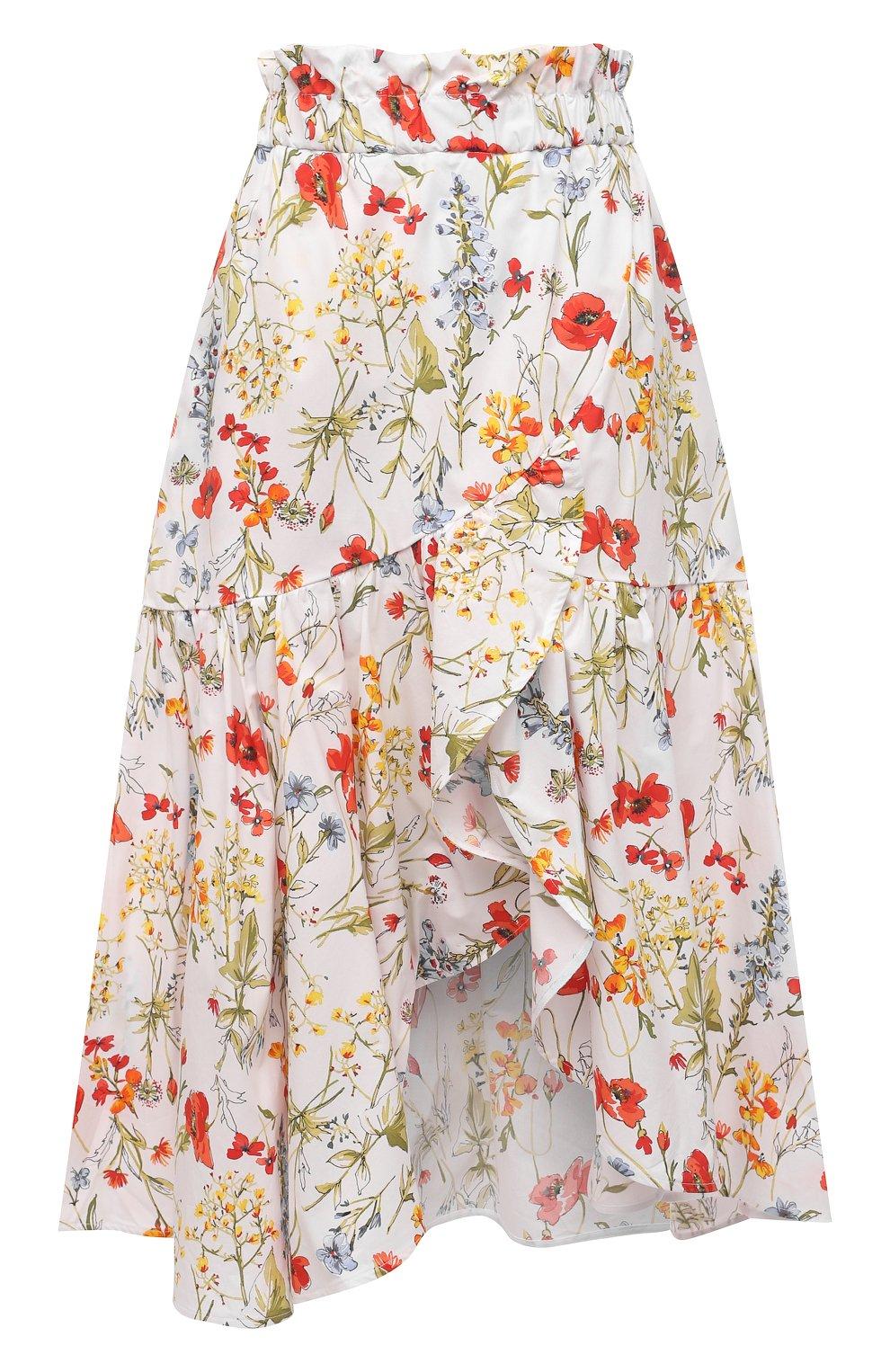 Женская хлопковая юбка SARA ROKA разноцветного цвета, арт. R0SLYN/31-S21   Фото 1 (Женское Кросс-КТ: Юбка-одежда; Материал внешний: Хлопок; Длина Ж (юбки, платья, шорты): Миди; Стили: Бохо)