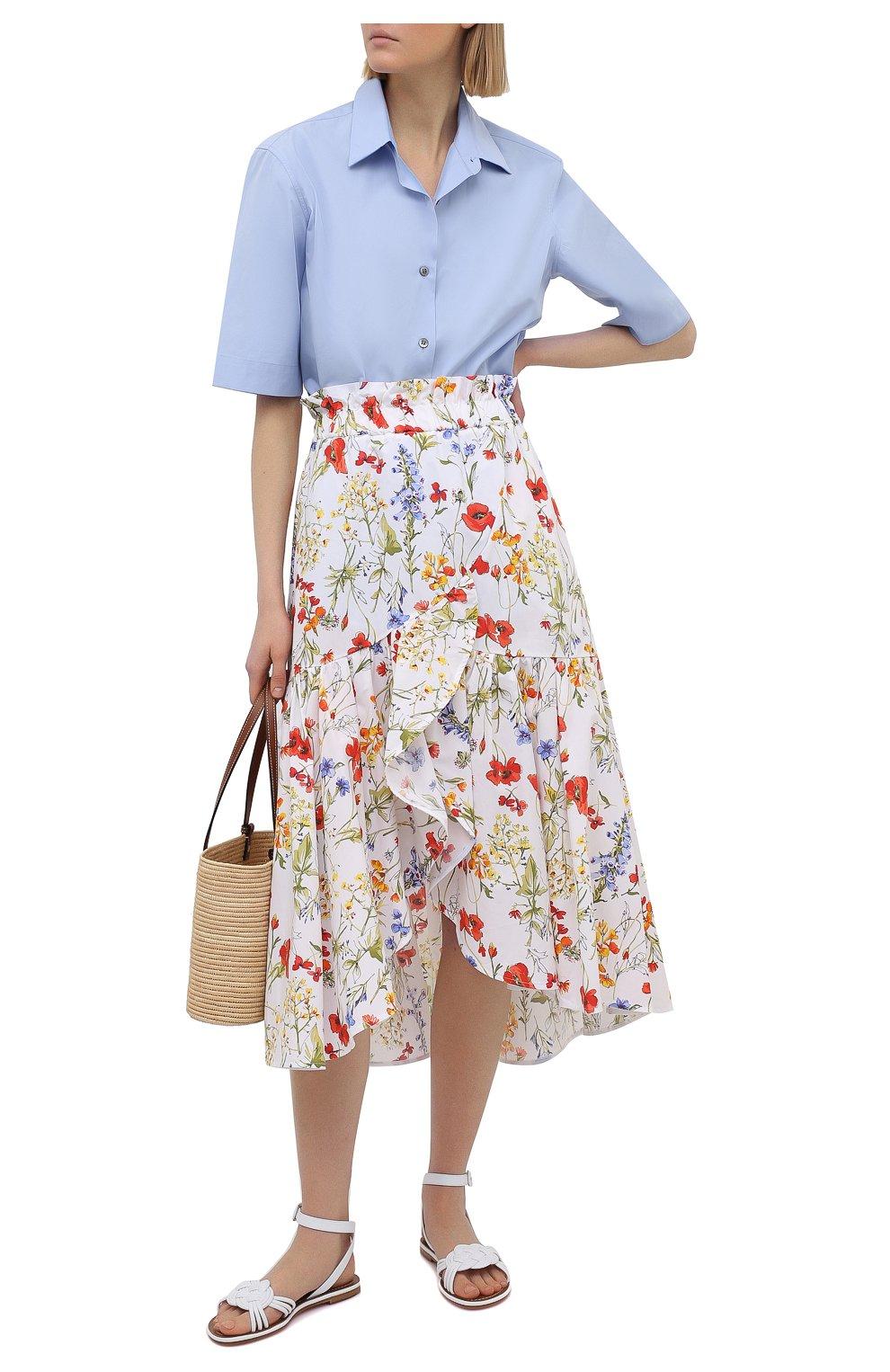 Женская хлопковая юбка SARA ROKA разноцветного цвета, арт. R0SLYN/31-S21   Фото 2 (Женское Кросс-КТ: Юбка-одежда; Материал внешний: Хлопок; Длина Ж (юбки, платья, шорты): Миди; Стили: Бохо)