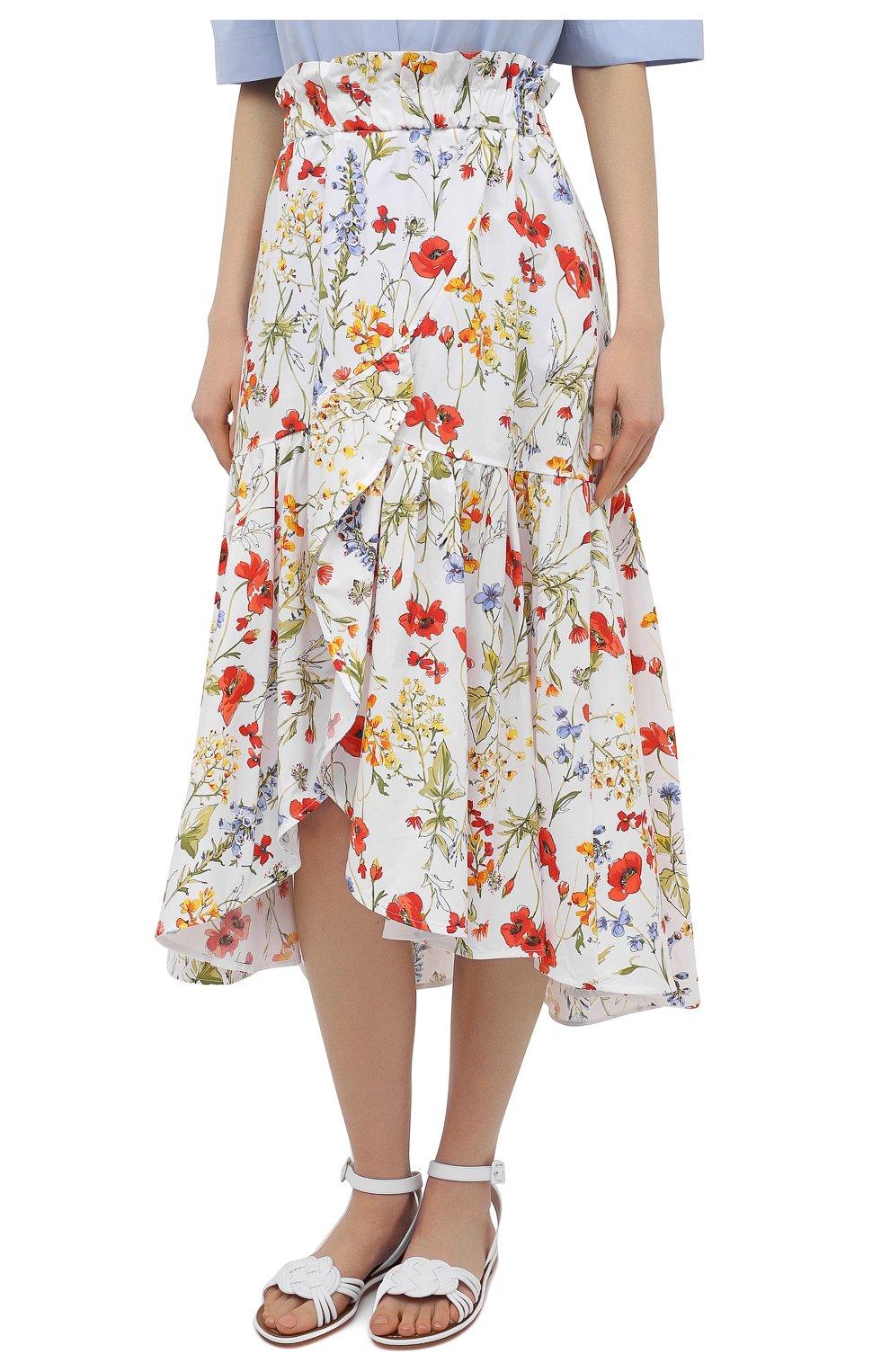 Женская хлопковая юбка SARA ROKA разноцветного цвета, арт. R0SLYN/31-S21   Фото 3 (Женское Кросс-КТ: Юбка-одежда; Материал внешний: Хлопок; Длина Ж (юбки, платья, шорты): Миди; Стили: Бохо)