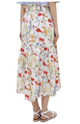 Женская хлопковая юбка SARA ROKA разноцветного цвета, арт. R0SLYN/31-S21   Фото 4 (Женское Кросс-КТ: Юбка-одежда; Материал внешний: Хлопок; Длина Ж (юбки, платья, шорты): Миди; Стили: Бохо)