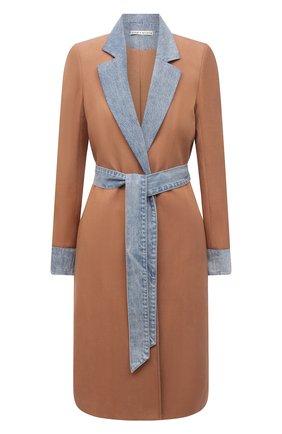 Женское джинсовое пальто ALICE + OLIVIA бежевого цвета, арт. CC102A20202 | Фото 1