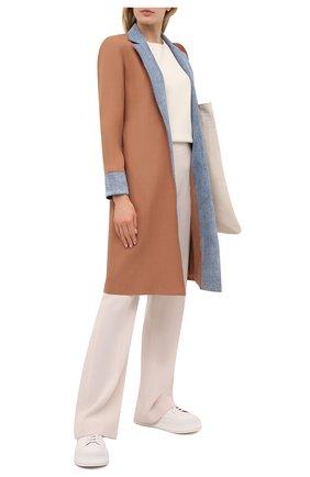 Женское джинсовое пальто ALICE + OLIVIA бежевого цвета, арт. CC102A20202 | Фото 2