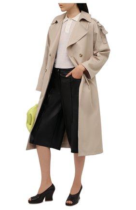 Женские кожаные туфли stack BOTTEGA VENETA темно-коричневого цвета, арт. 658959/VBP40 | Фото 2