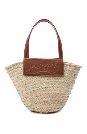Женский сумка-тоут loubishore CHRISTIAN LOUBOUTIN коричневого цвета, арт. 1215220/L0UBISH0RE W0VEN   Фото 1