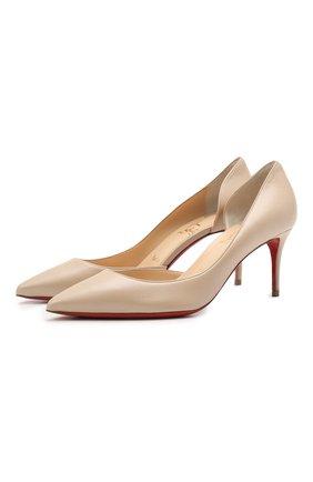 Женские кожаные туфли iriza 70 CHRISTIAN LOUBOUTIN светло-бежевого цвета, арт. 1211020/IRIZA 70 | Фото 1
