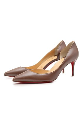 Женские кожаные туфли iriza 70 CHRISTIAN LOUBOUTIN коричневого цвета, арт. 1211020/IRIZA 70 | Фото 1