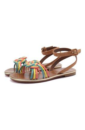 Женские кожаные сандалии ella CHRISTIAN LOUBOUTIN разноцветного цвета, арт. 1210702/ELLA FLAT | Фото 1