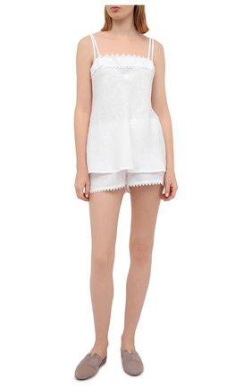 Женская льняная пижама CELESTINE белого цвета, арт. 50000129/CLAUDINE SH0RTY SET | Фото 1