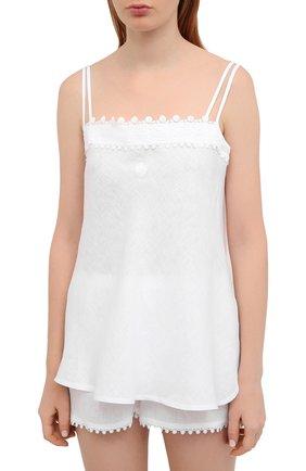 Женская льняная пижама CELESTINE белого цвета, арт. 50000129/CLAUDINE SH0RTY SET | Фото 2