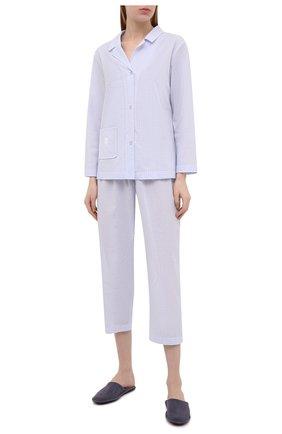 Женская хлопковые пижамы CELESTINE голубого цвета, арт. 40000739/KRETA SUIT | Фото 1