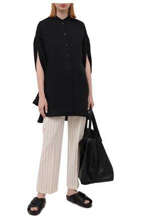 Женские шерстяные брюки JOSEPH светло-бежевого цвета, арт. JP001108 | Фото 2