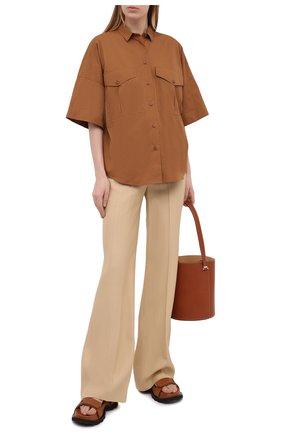 Женские брюки из вискозы JOSEPH бежевого цвета, арт. JP001105 | Фото 2