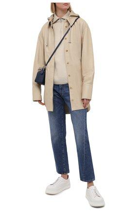 Женская кожаная куртка JOSEPH бежевого цвета, арт. JF005262 | Фото 2