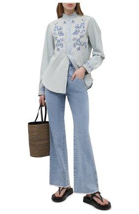 Женские джинсы ISABEL MARANT голубого цвета, арт. PA1914-21E020I/DILESQUI | Фото 2