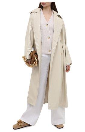 Женский шерстяной кардиган VINCE светло-бежевого цвета, арт. V731478673   Фото 2